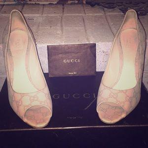 Gucci Guccissima Peep Toe Heel